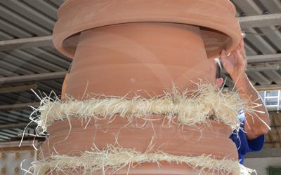 Ciclo produttivo terracotta da giardino: imballaggio della terracotta