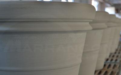 Ciclo produttivo terracotta da giardino: la fase di essiccazione