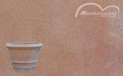 Terracotta Galestro: ben visibile la grana grossa e le effluorescenze