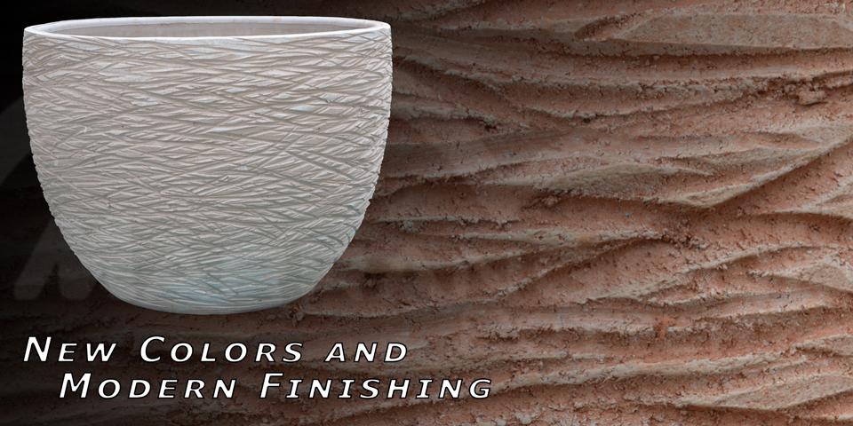 Terracotta finitura solcata, moderno design